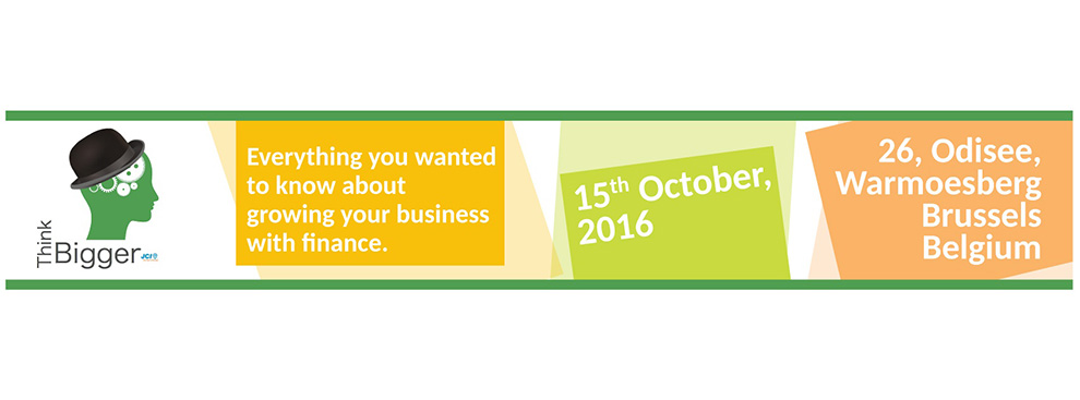 Visit our Think Bigger Event on the 15.10.2016  10 AM – 4 PM